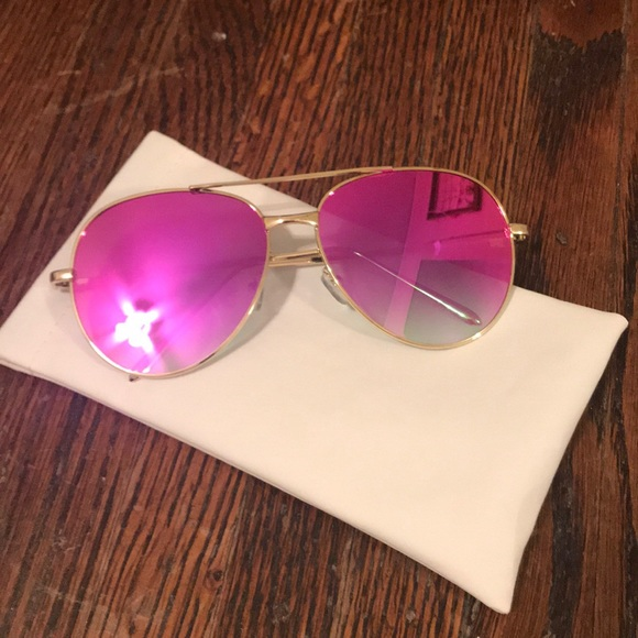 2d0de1b3a3b0 Accessories - Hot Pink Reflective Aviator Sunglasses